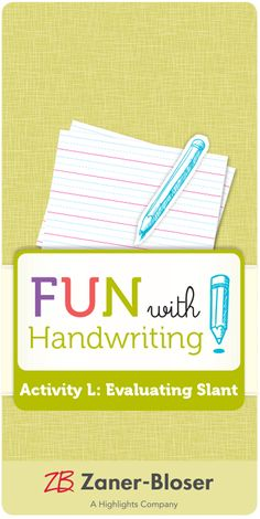 Use parallel lines—and paired exercises—to teach legible cursive writing. Zaner Bloser Handwriting, Handwriting Activities, Cursive, Exercises, Teaching, Fun, Writing Activities, Exercise Routines, Excercise