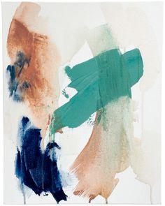 "From Sleep 14.25 x 18.25 x 1.5"", acrylic on canvas, 2015 // Dani Schafer"