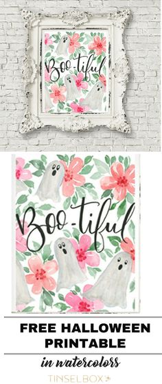 Get this free printable Halloween ghost! We love t…