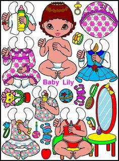 """Paper dolls """"Babies"""". Бумажные куклы """"Малыши и коляски"""". - Мария Мальцева - Picasa Web Albums"""