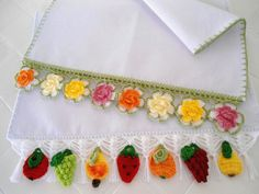 Kit 2 Panos de Prato Frutas e Flores | msmusical artesanato | Elo7