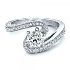 Custom Diamond and Filigree Engagement Ring