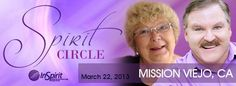Spiritual Engagement   Spirit Circle with James Van Praagh and Mavis Pittilla March 22, 2013 Mission Viejo, CA #SOCAL #spiritual Mission Viejo, Mavis, Live Events, Event Calendar, Spirituality, Van, Engagement, Spiritual, Engagements