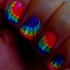 loove these nails Tie Die Nails, Cute Nails, Pretty Nails, Nailart, Marble Nail Art, Nail Art Hacks, Cute Nail Designs, Creative Nails, Cool Nail Art