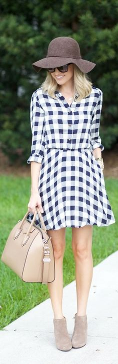 Gingham Shirtdress / Fashion by A Spoonful of Style