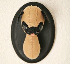 mounted pug by Skunkboy Creatures., via Flickr