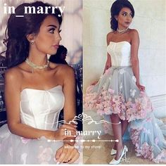 Sexy Arabic Designer High Low Prom Dresses 2017 A Line 3D Flowers Plus Size African 2K17 Girls Cheap Formal Homecoming Evening Party Gowns 2017 Prom Dresses A Line Prom Dresses 2K17 Prom Dresses Online with $202.29/Piece on In_marry's Store | DHgate.com