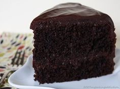 Hershey's Black Magic Cake with Ganache Frosting (Supposedly THE best chocolate cake recipe of all time! Just might have to make me one ~ I've making this recipe for years and I will tell you this IS the best chocolate cake recipe ever! Amazing Chocolate Cake Recipe, Best Chocolate Cake, Chocolate Ganache, Chocolate Heaven, Decadent Chocolate, Delicious Chocolate, Chocolate Lovers, Chocolate Desserts, White Chocolate