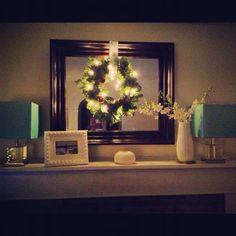Christmas mantle wreath