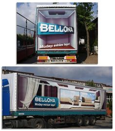 The 3D vehicle wrap was designed and installed on trucks in Turkey to promote Bellona Properties.