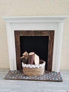 Dollhouse Miniature Fireplace... from 2 Stinkin' Cute Miniatures