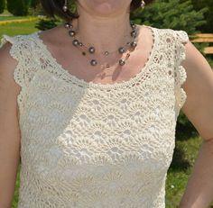 Katia Ribeiro Moda & Decoração Handmade: Vestido em crochê com gráfico do ponto