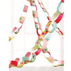 Martha Stewart Crafts Modern Festive Paper Chain Kit - diy in coral & aqua Pink Party Decorations, Paper Chains, Martha Stewart Crafts, Pink Parties, Craft Party, Craft Kits, Craft Ideas, Decor Ideas, Streamers