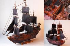 Black Pearl papercraft.... i will be making this at some point, you know.... when I want to lose my mind!