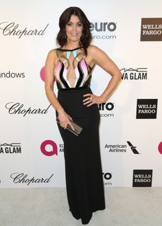 Fabulously Spotted: Bellamy Young Wearing Alon Livné - 2014 Elton John Oscar Party - http://www.becauseiamfabulous.com/2014/03/bellamy-young-wearing-alon-livne-2014-elton-john-oscar-party/