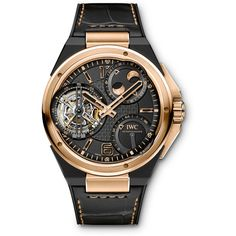 IWC Ingenieur Constant Force Tourbillon Red Gold and Black Ceramic IW590002