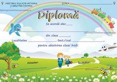 Diploma nepersonalizata absolvire clasa I (B114)
