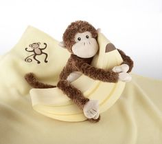 Baby Aspen Monkey Magoo and Blankie Too Gift Set (0-24 Months)