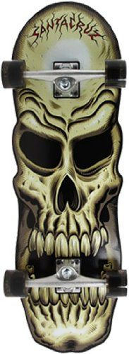 Skull Cruzer by Santa Cruz.Xmas for my boy Skate Decks, Skateboard Decks, Old School Skateboards, Complete Skateboards, Skate Art, Surf Art, Grim Reaper, Skull And Bones, Skulls