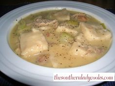 Easy Chicken and Dumplings ~ The Southern Lady Cooks