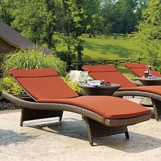 New chaise lounges for back deck!