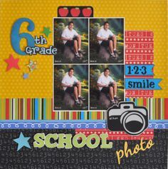 scrapbook layout for 6th grade - Google Search