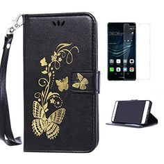 Yrisen 2in 1 Huawei P9 Tasche Hülle Wallet Case Schutzhül…