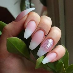 21.Nude Pink Coffin Nails with Rhinestones For the days when you can't make your mind up, nude is the perfect nail. It goes with everything. It doesn't matter how you wear your makeup that day, or what outfit you have thrown together, your nude nails will always go and this nude-pink shade is perfect for …