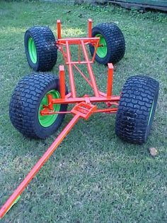 Risultati immagini per wagon steering kits Trailer Build, Car Trailer, Utility Trailer, Welding Cart, Diy Welding, Metal Projects, Welding Projects, Chariot Manutention, Kids Wagon