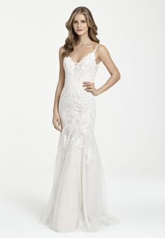 d1ee6f19 Style 7755 Ti Adora by Allison Webb bridal gown - Ivory / Cashmere lace and  English Net fit n flare bridal gown. Deep sweetheart neckline with double  ...