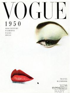 VogueJan1950. One of my favourite Vogue covers.