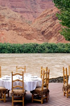 Opt for breakfast on the patio overlooking the rushing Colorado River. Sorrel River Ranch Resort (Moab, Utah) - Jetsetter