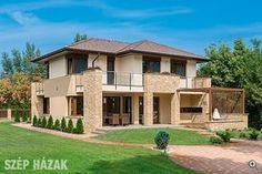 Mediterrán másképp - Szép Házak Style At Home, Modern Mediterranean Homes, Country Home Exteriors, Tropical Houses, Design Case, Modern House Design, Home Fashion, Home Projects, Luxury Homes