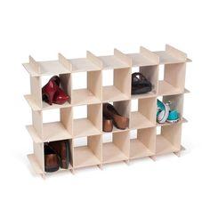 Wooden Shoe Storage Shelves