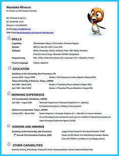 animation resume templates if you like to work in creative art design you can work as an animation team but to get the job you need to write animation