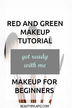 Red and Green Makeup Tutorial for Beginners to Learn Eyeshadow Basics Step by step, colorful makeup tutorial video for beginners including foundation, eyeshadow, contouring. This works well for brown eyes, for black women and for blondes. Foundation Makeup, Makeup Tutorial Foundation, How To Apply Foundation, Foundation Tips, Foundation Brush, Make Up Tutorials, Easy Makeup Tutorial, Makeup Tutorial For Beginners, Beginner Makeup