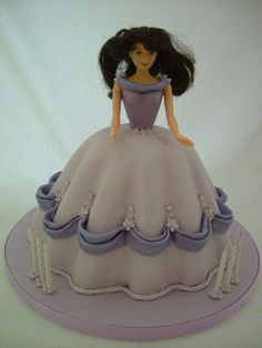 lilac doll cake with swags