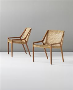 PHILLIPS : UK050312, EJNAR LARSEN AND AKSEL BENDER MADSEN, Pair of lounge chairs