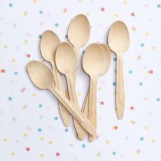 Una merienda con estas cucharitas Eco. Ideales! Las encuentras en www.lafiestadeolivia.com