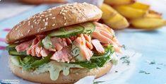 ALDI SÜD - Rezept: Pulled Lachs-Burger mit Honig-Senfcreme