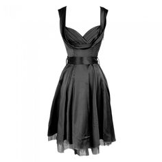 Long Black Satin Dress-honestly this dress is amazing in most colors, but we will stick to pinning blue and black....