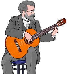クラシック ギターのギタリスト(フランシスコ・タレガ)。 / Spanish guitarist (Francisco Tarrega) / Guitarrista español (Francisco Tárrega) #ギタリスト