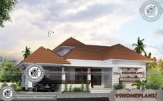 Large One Story House Plans with Traditional Single Storey House Designs Having Single Floor, 3 Total Bedroom, 3 Total Bathroom, and Ground Floor Area is 1592 sq ft, Hence Total Area is 1768 sq ft Simple House Exterior Design, House Front Design, Small House Design, Free House Plans, Simple House Plans, Modern House Plans, House Plans With Pictures, House Design Pictures, Traditional Style Homes