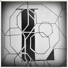 L, grote letter, handlettering