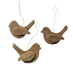 Dekoration fra Thor Hodda: Træfugle fra Tanzania, træet de er lavet af, kommer fra gamle træskibe Tanzania, Holidays, Christmas Ornaments, Holiday Decor, Home Decor, Dekoration, Holidays Events, Decoration Home, Room Decor
