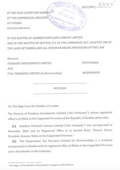 Zambezi Portland Cement Factory may soon lose its existence- https://goo.gl/qApBm0