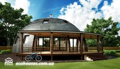 Экодом - Купольные дома A Frame House Kits, Circular Buildings, Geodesic Dome Homes, Green House Design, Futuristic Home, Contemporary House Plans, Dome House, Earth Homes, Round House