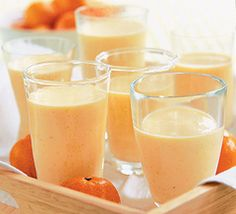 CALIFORNIA DREAMSICLE    Ingredients:  2 clementines, peeled   1 orange, peeled and quartered   1 packet BeautyScoop®  1/2 tsp. orange-flower water    Preparation:    Put the clementines and orange through a juice extractor. Pour into a blender and add orange-flower water and one packet of BeautyScoop®. Blend for 2 minutes. Pour into a glass and enjoy. (ice is optional)