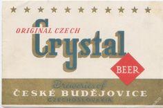 PEMD 1 ks stará etiketa CRYSTAL BUDVAR EXPORT 25 (6395939828) - Aukro - největší obchodní portál
