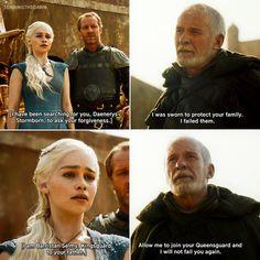 Daenerys meets Ser Barristan Selmy & he swears allegiance to her | 3x01